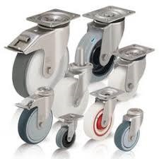 Stainless Steel Caster Selection - Swivel Plate and Post Casters
