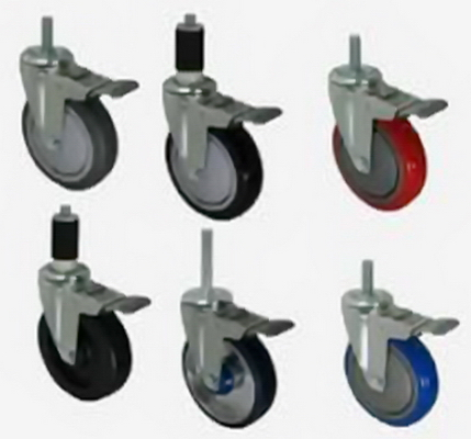 Stem Casters - Selection of Threaded and Compression Stem Casters with Brakes